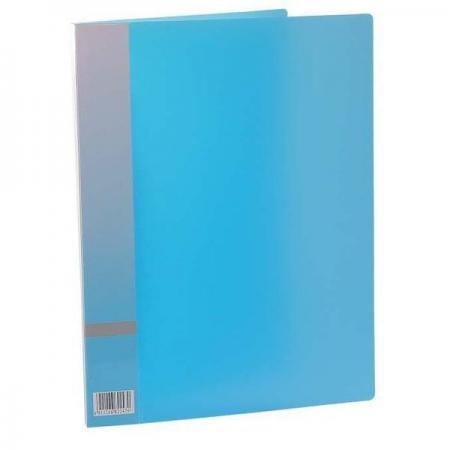 Папка с прижимным механизмом, ф. А4, цвет голубой, материал полипропилен, вместимость 120 листов цена