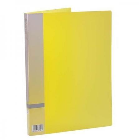 Папка с прижимным механизмом, ф. А4, цвет желтый, материал полипропилен, вместимость 120 листов песочница бассейн marian plast palplay лодочка желтый 308