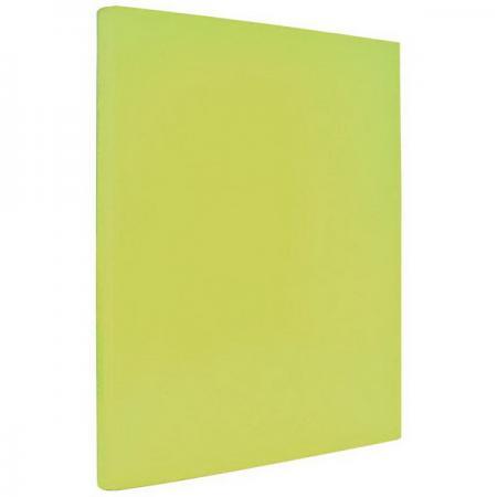 Папка с прижимным механизмом ламинированная, желтая папка 2 кольца желтая 180 листов 221795