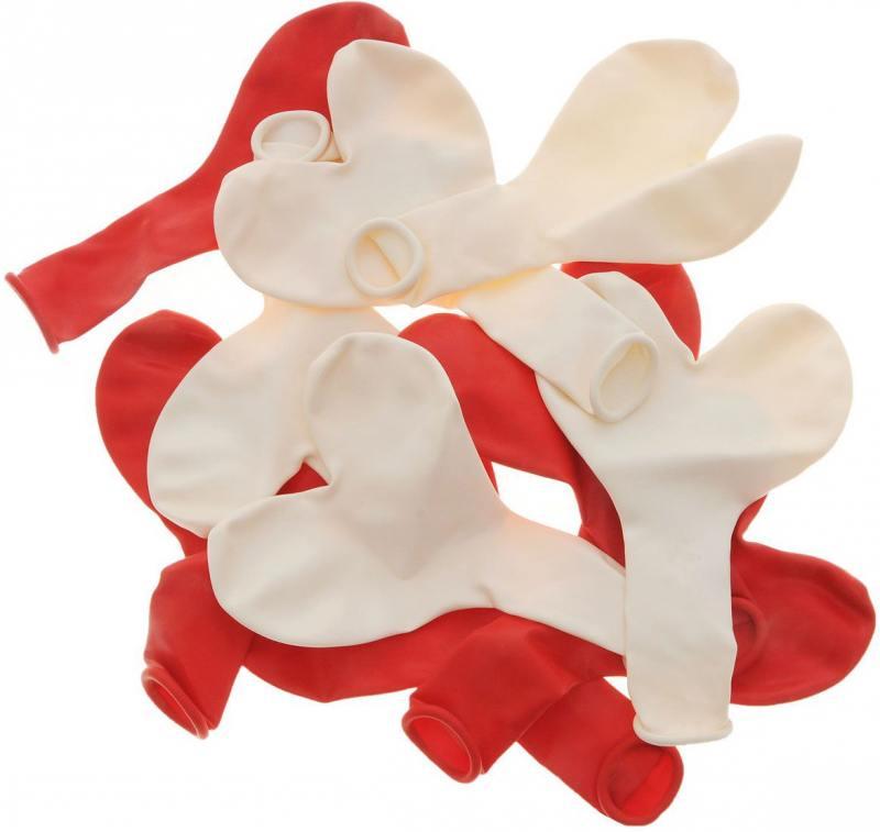 ШАРЫ ВОЗДУШНЫЕ сердечки,красные, белые 10шт стационарный блендер philips hr2095 30 white