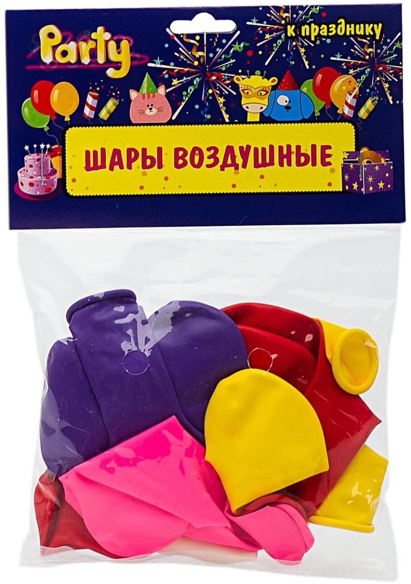 ШАРЫ ВОЗДУШНЫЕ сердечки разноцветные, 10шт