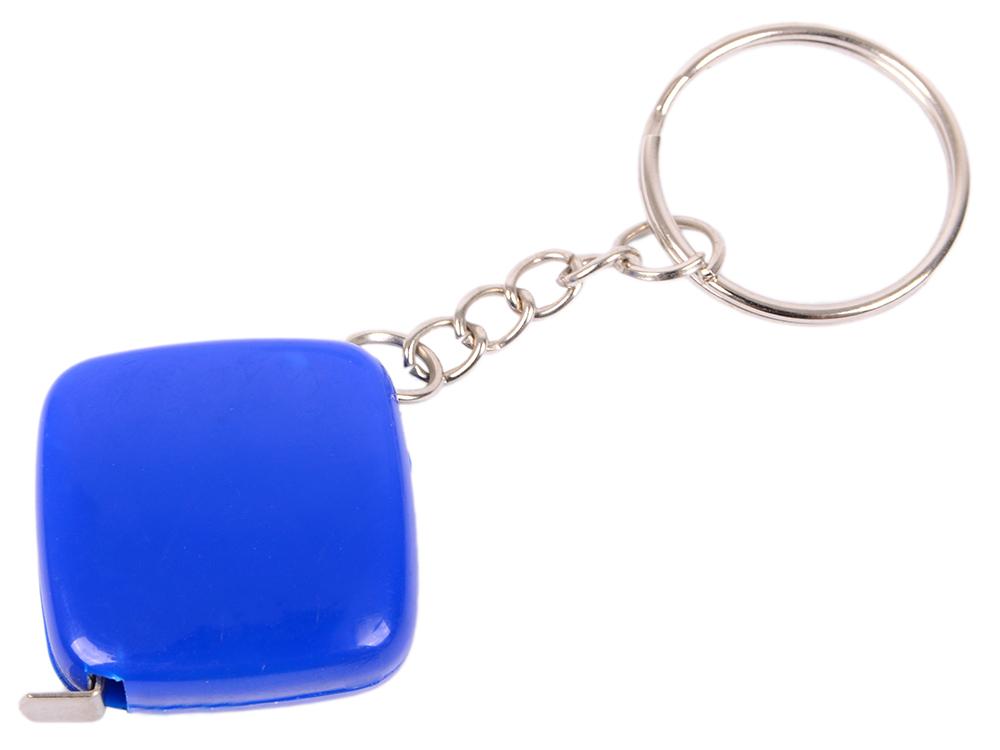 Брелок-рулетка, 2.5*2.5 см, пластик, синий, рулетка-50 см рулетка брелок biber 40131