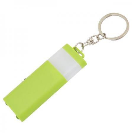 Брелок-фонарик двусторонний, зеленый корпус, индивид. стикер брелок фонарик leather fob lite