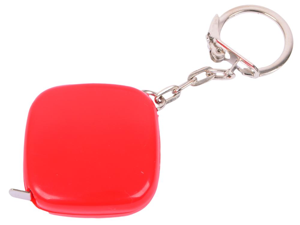 Брелок-рулетка, пластик, красный брелок рулетка квадратный пластик зеленый
