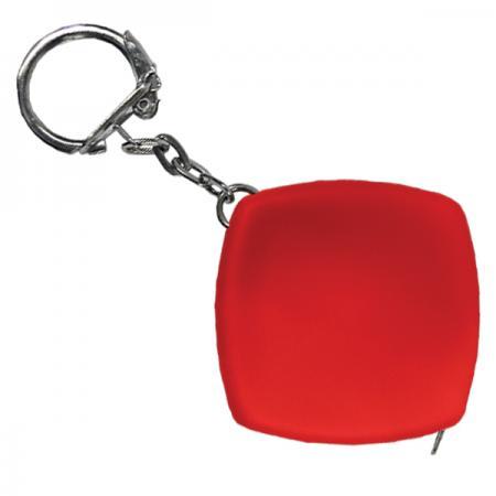 Брелок-рулетка, пластик, красный рулетка брелок biber 40131