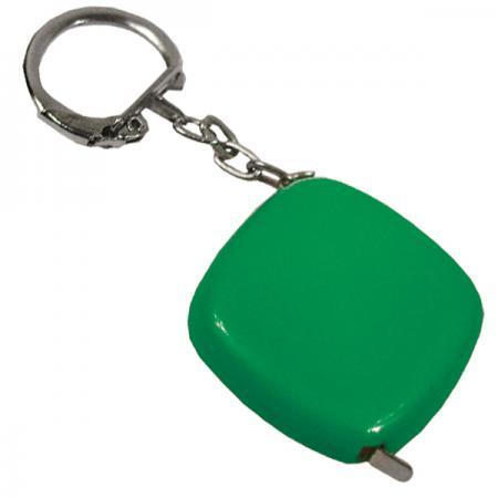 Брелок-рулетка, пластик, зел. карманный рулетка практическая брелок брелок кольцо брелок брелок держатель