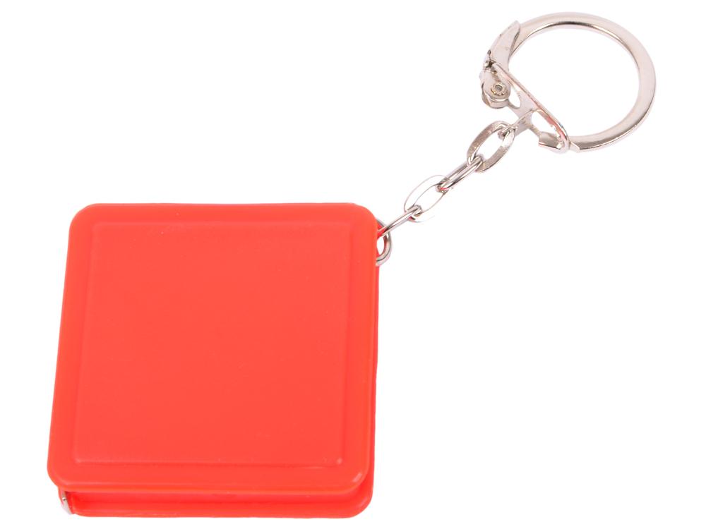 Брелок-рулетка квадратный, пластик, красный брелок рулетка квадратный пластик зеленый