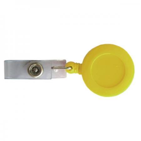 Брелок-ретрактор с вытяжной нитью, пластик,желтый цена