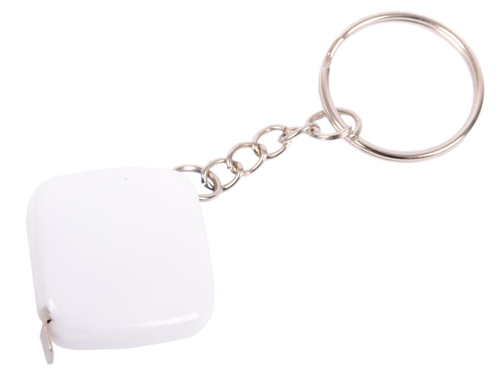 Брелок-рулетка, 2.5*2.5 см, пластик, белый, рулетка-50 см рулетка брелок biber 40131