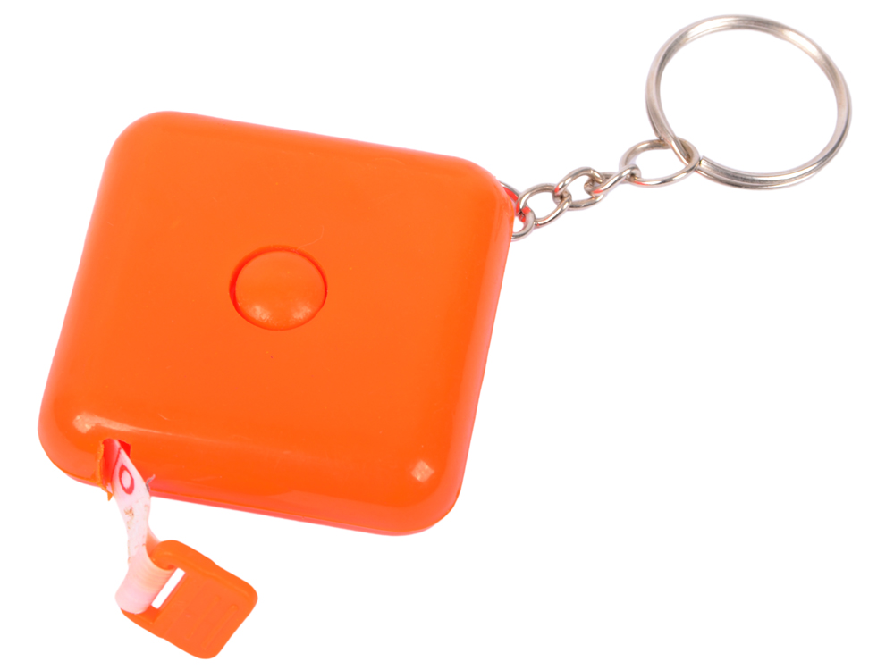 Брелок-рулетка, пластик,оранжевый брелок рулетка пластик оранжевый круглый