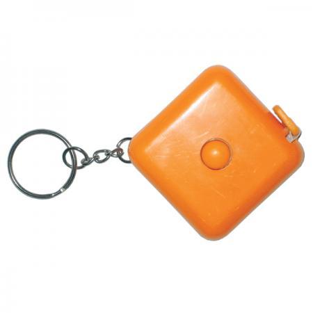 Брелок-рулетка, пластик,оранжевый брелок рулетка квадратный пластик черный lbr10478 ч