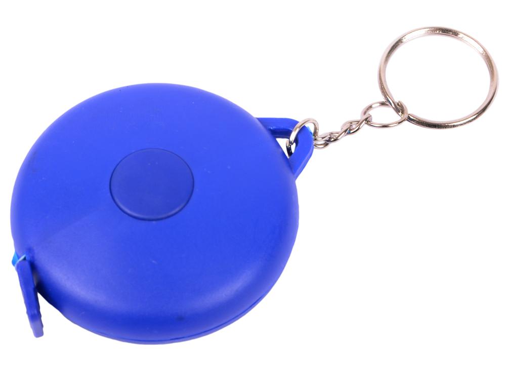 Брелок-рулетка, пластик, синий, круглый рулетка пластик синий lrk10489 с