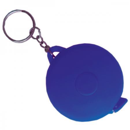 Брелок-рулетка, пластик, синий, круглый рулетка брелок biber 40131