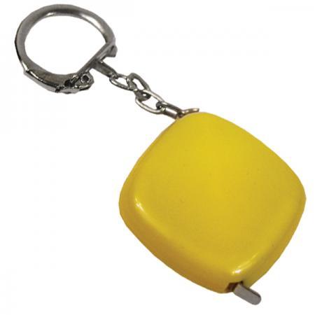 Брелок-рулетка, пластик Yellow брелок рулетка квадратный пластик черный lbr10478 ч