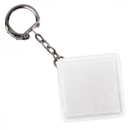 Брелок-рулетка квадратный, пластик, белый рулетка пластик белый