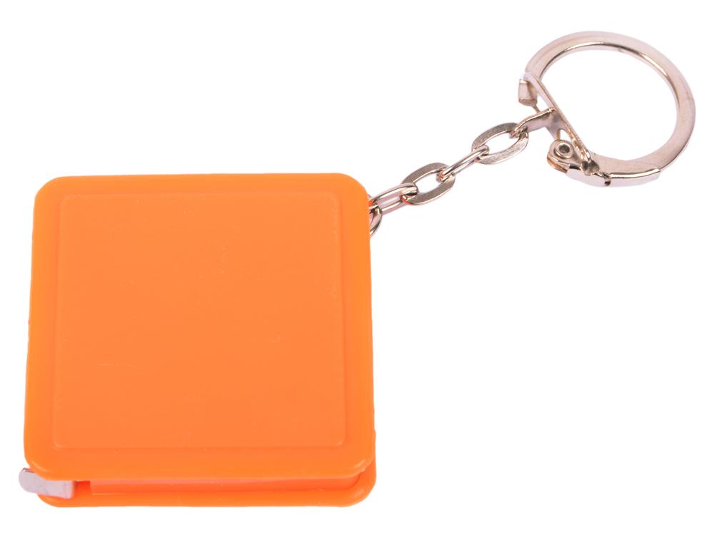 Брелок-рулетка квадратный, пластик, оранжевый брелок рулетка квадратный пластик зеленый