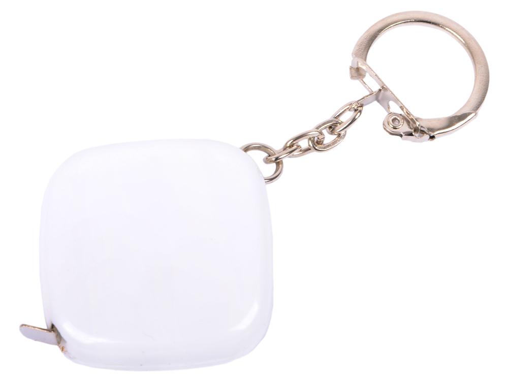 Брелок-рулетка, пластик, белый рулетка пластик белый