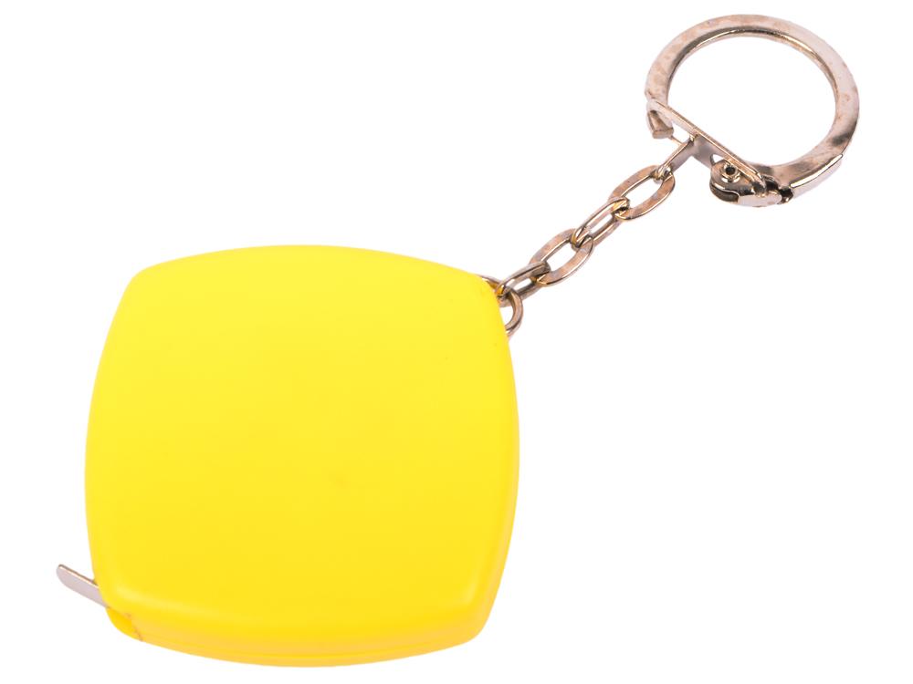 Брелок-рулетка, пластик, жел. карманный рулетка практическая брелок брелок кольцо брелок брелок держатель