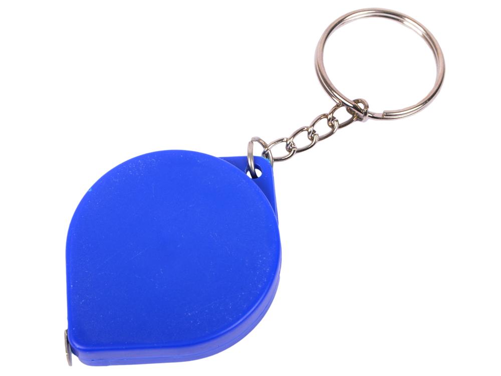 Брелок-рулетка, пластик, синий рулетка пластик синий lrk10489 с