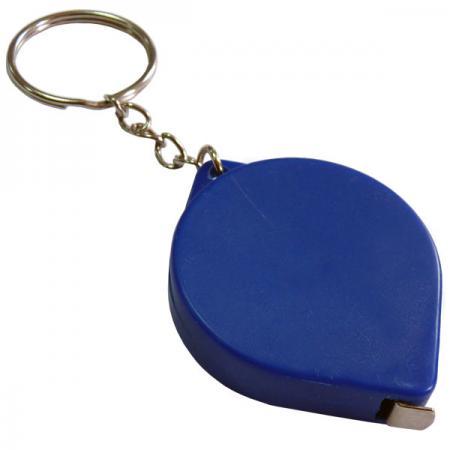 Брелок-рулетка, пластик, синий брелок рулетка 2 5 2 5 см пластик синий рулетка 50 см