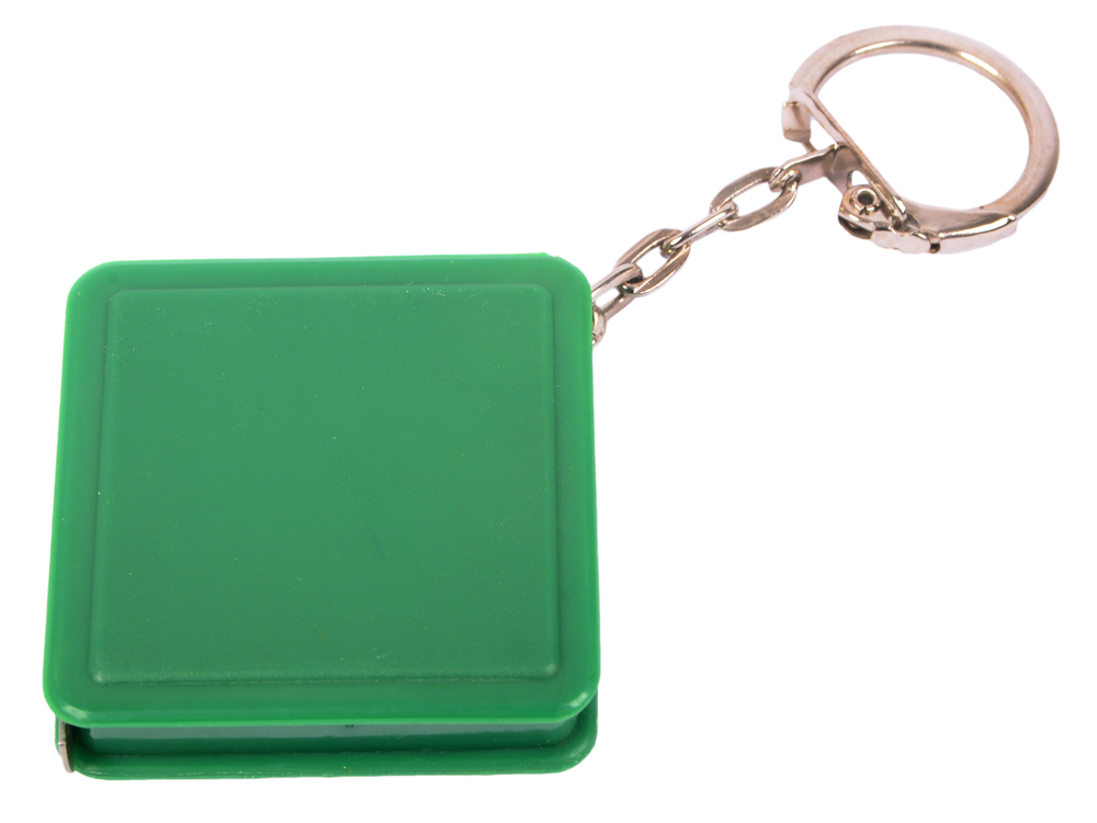 Брелок-рулетка квадратный, пластик, зеленый брелок рулетка квадратный пластик зеленый