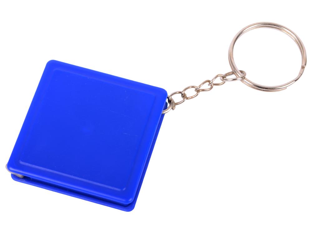 Брелок-рулетка квадратный, пластик, синий рулетка пластик синий lrk10489 с