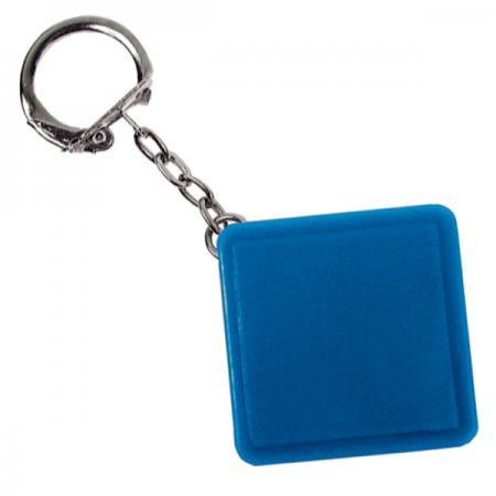 Брелок-рулетка квадратный, пластик, синий брелок рулетка 2 5 2 5 см пластик синий рулетка 50 см