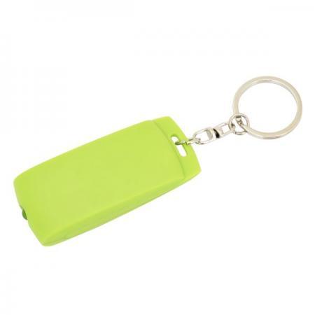 Брелок-фонарик, зеленое основание, зеленый корпус, индивид. стикер