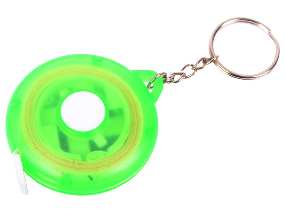 Брелок-рулетка, пластик, зеленый брелок рулетка квадратный пластик зеленый