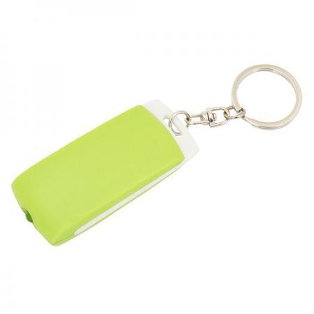 Брелок-фонарик, белое основание, зеленый корпус, индивид. стикер фонарик beyblade бейблейд morph lite цвет зеленый