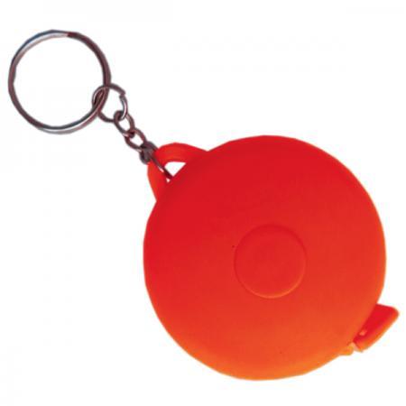 Брелок-рулетка, пластик, красный, круглый брелок рулетка 2 5 2 5 см пластик синий рулетка 50 см
