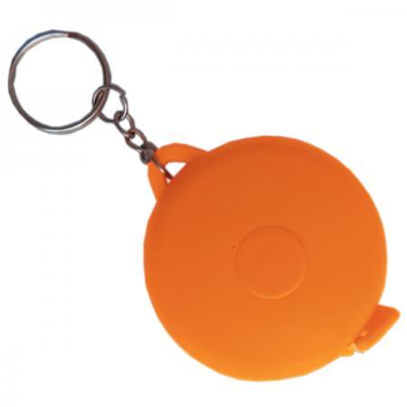 Брелок-рулетка, пластик, оранжевый, круглый брелок рулетка квадратный пластик черный lbr10478 ч