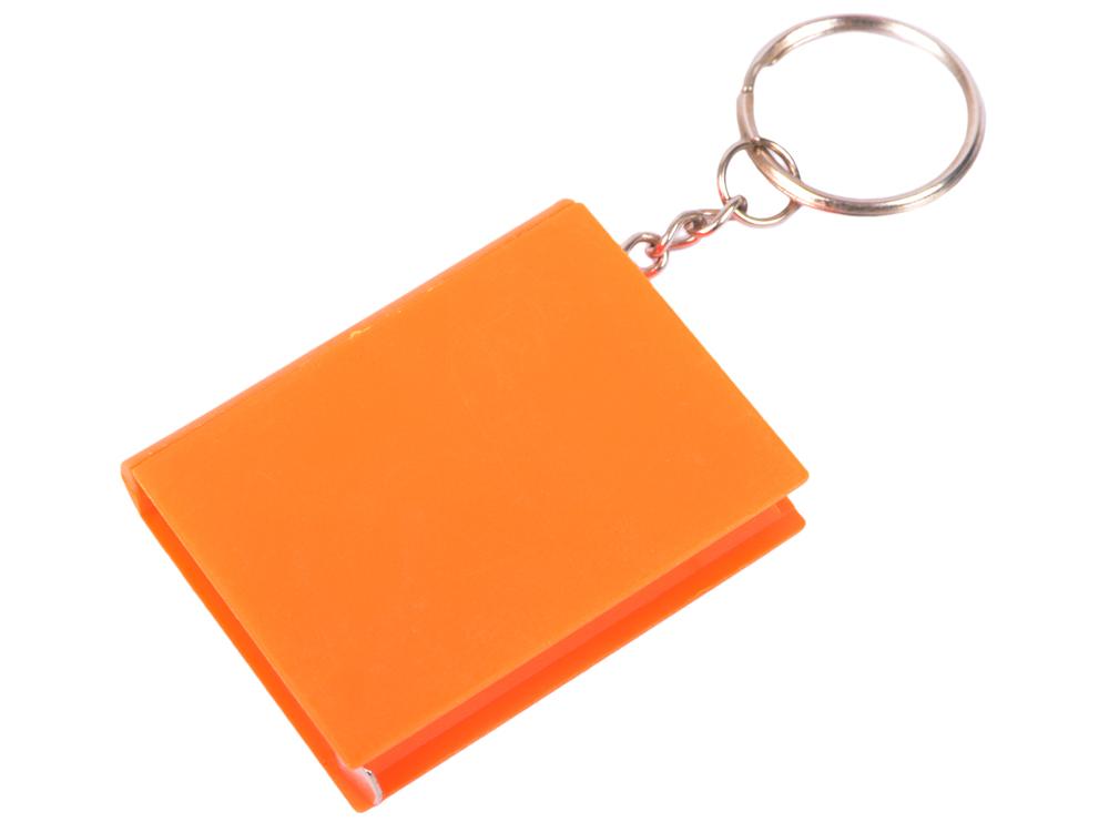 Брелок-рулетка КНИГА, пластик, оранжевый карманный рулетка практическая брелок брелок кольцо брелок брелок держатель