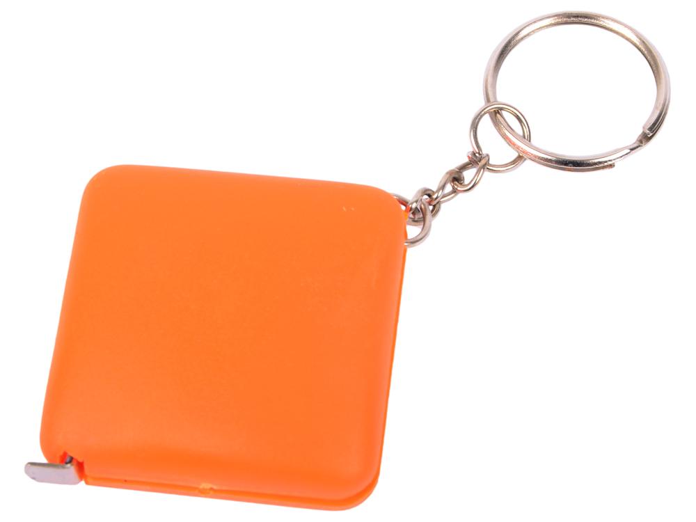 Брелок-рулетка, пластик, оранжевый брелок рулетка пластик оранжевый круглый