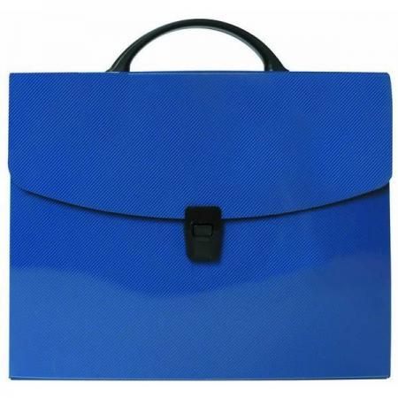 Папка-портфель без отделений, А4, синяя портфель office point exclusive пластиковый картотека на 12 отделений