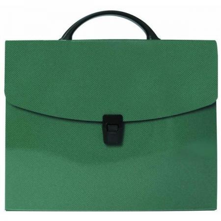 Папка-портфель без отделений, А4, зеленая портфель office point exclusive пластиковый картотека на 12 отделений