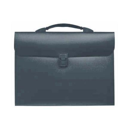 Папка - портфель с эргономичной ручкой на 13 отделений, серый