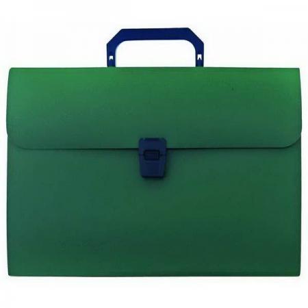 Папка-портфель, 13 отделений, А4, зеленая портфель office point exclusive пластиковый картотека на 12 отделений