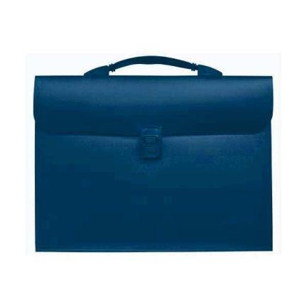 Папка - портфель с эргономичной ручкой на 13 отделений, синий