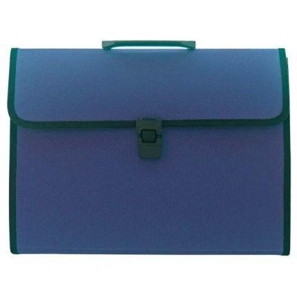 Папка-портфель, 13 отделений, А4, синяя папка proff а4 60 карманов синяя