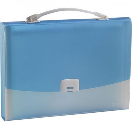 Папка-портфель FOCUS А4, 13 отделений, PP, 0,7 мм, голубой