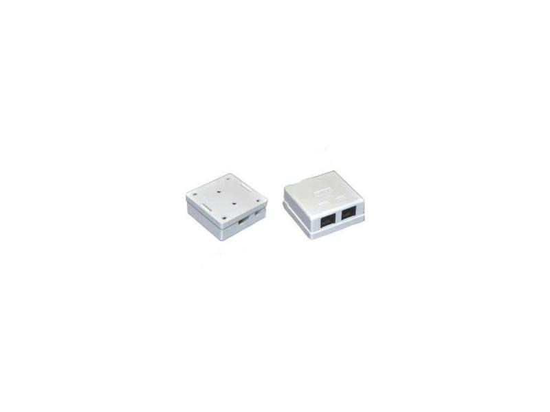 Розетка ITK для RJ45 UTP кат.5е 2 выхода белый CS2-1C5EU-22 разъем itk rj 45 utp для кабеля кат 5е 8p8c cs3 1c5eu