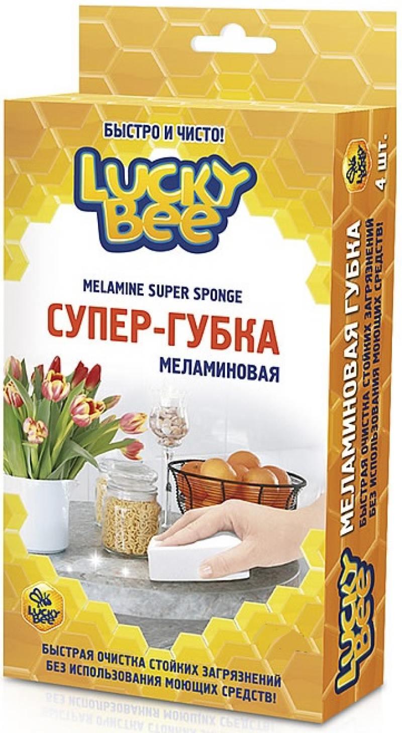 """Меламиновая губка """"Супер-губка"""" 4 шт. Lucky Bee LB 7202"""