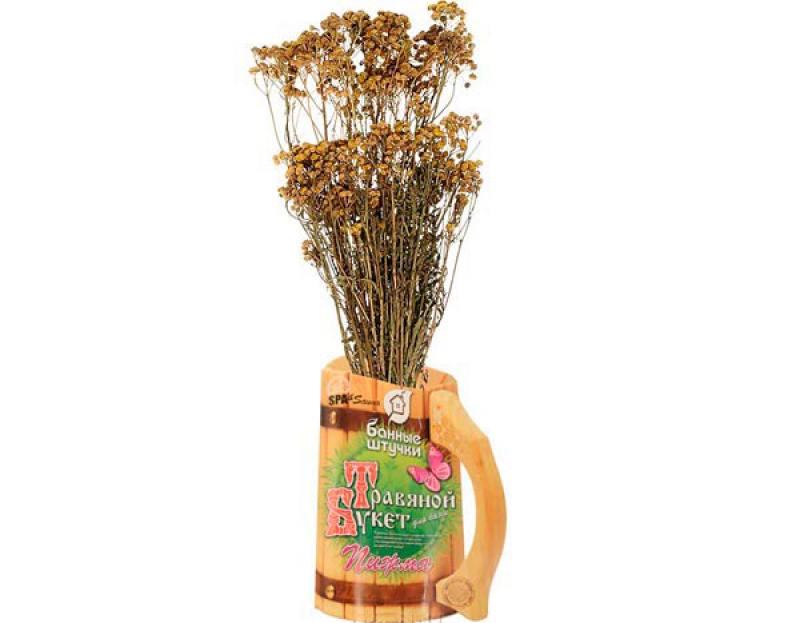 Травяной букет для бани Пижма Банные штучки 33064 антисептик для бани и сауны чистая банька банные штучки 34997