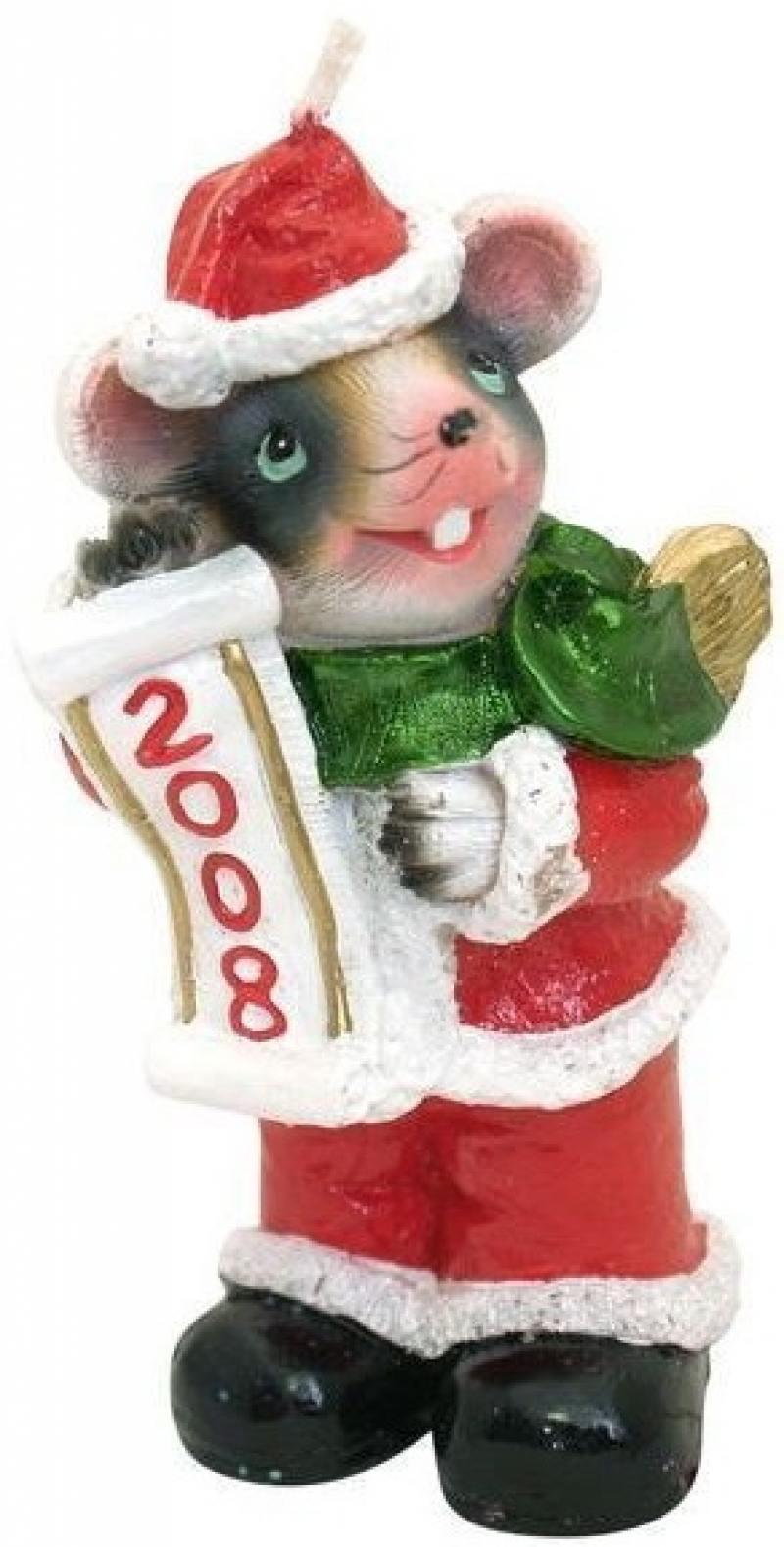 Фото Свеча МЫШЬ новогодняя 2008, 11 см, 1 в. свеча мышь новогодняя 2008 11 см 1 в