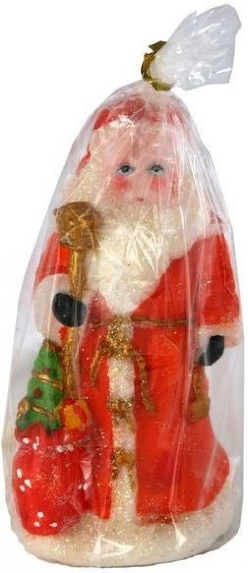 Свеча ДЕД МОРОЗ В ШУБЕ, 8х7х14 см, 1 вид фигурки игрушки maxitoys дед мороз в шубе
