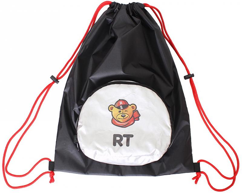 Мешок-рюкзак RichToys на самокат и велосипед - Собака черный складной