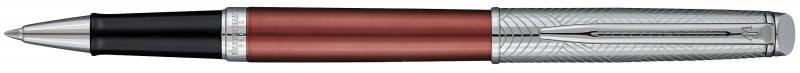 Ручка-роллер Waterman Hemisphere Deluxe Privee чернила черные корпус серебристо-коричневый 1971675 шариковая ручка waterman hemisphere deluxe privee чернила синие 1971678