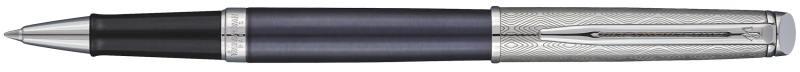Ручка-роллер Waterman Hemisphere Deluxe Privee чернила черные корпус серо-серебристый 1971679