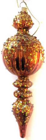 Украшение елочное ПОДВЕСКА, стеклянная, 1 шт. в прозрачной коробке, 19 см, 4 цв. набор украшений елочных 8 см 6 шт в коробке стекло